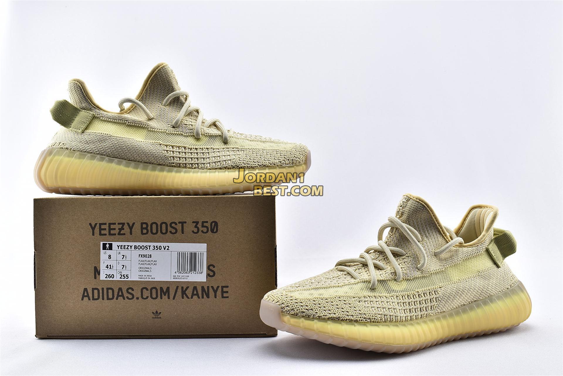 """Adidas Yeezy Boost 350 V2 """"Flax"""" FX9028"""