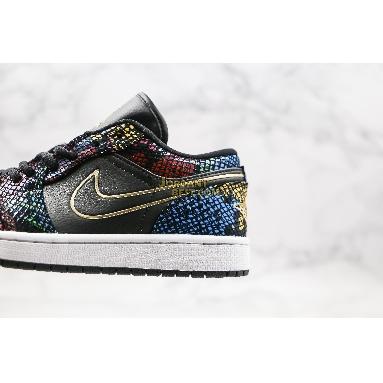 "new replicas 2020 Air Jordan 1 Low ""Multi Snakeskin"" CW5580-001 Mens Womens black/multi-color-white-metallic gold Shoes replicas On Wholesale Sale Online"