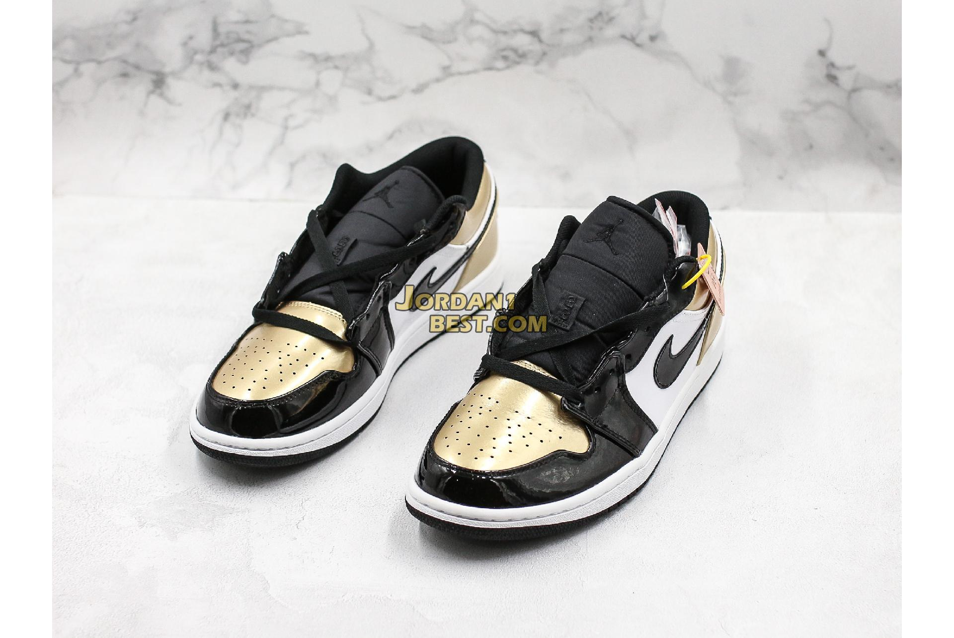 "2020 Air Jordan 1 Low ""Gold Toe"" CQ9447-700 Mens Womens"