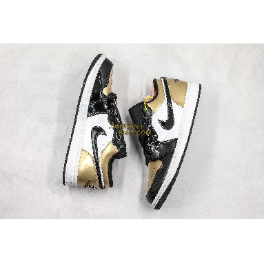 """AAA Quality 2020 Air Jordan 1 Low """"Gold Toe"""" CQ9447-700 Mens Womens black/white/gold toe Shoes replicas On Wholesale Sale Online"""