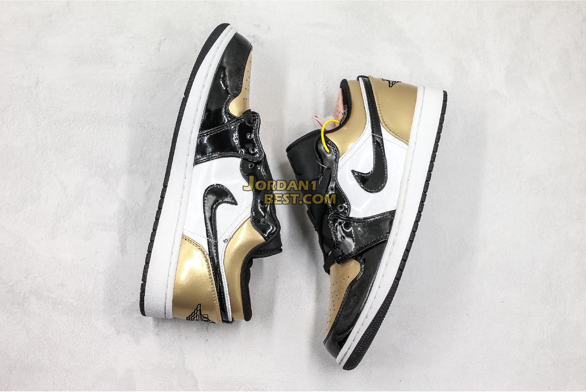 "2020 Air Jordan 1 Low ""Gold Toe"" CQ9447-700 Mens Womens"