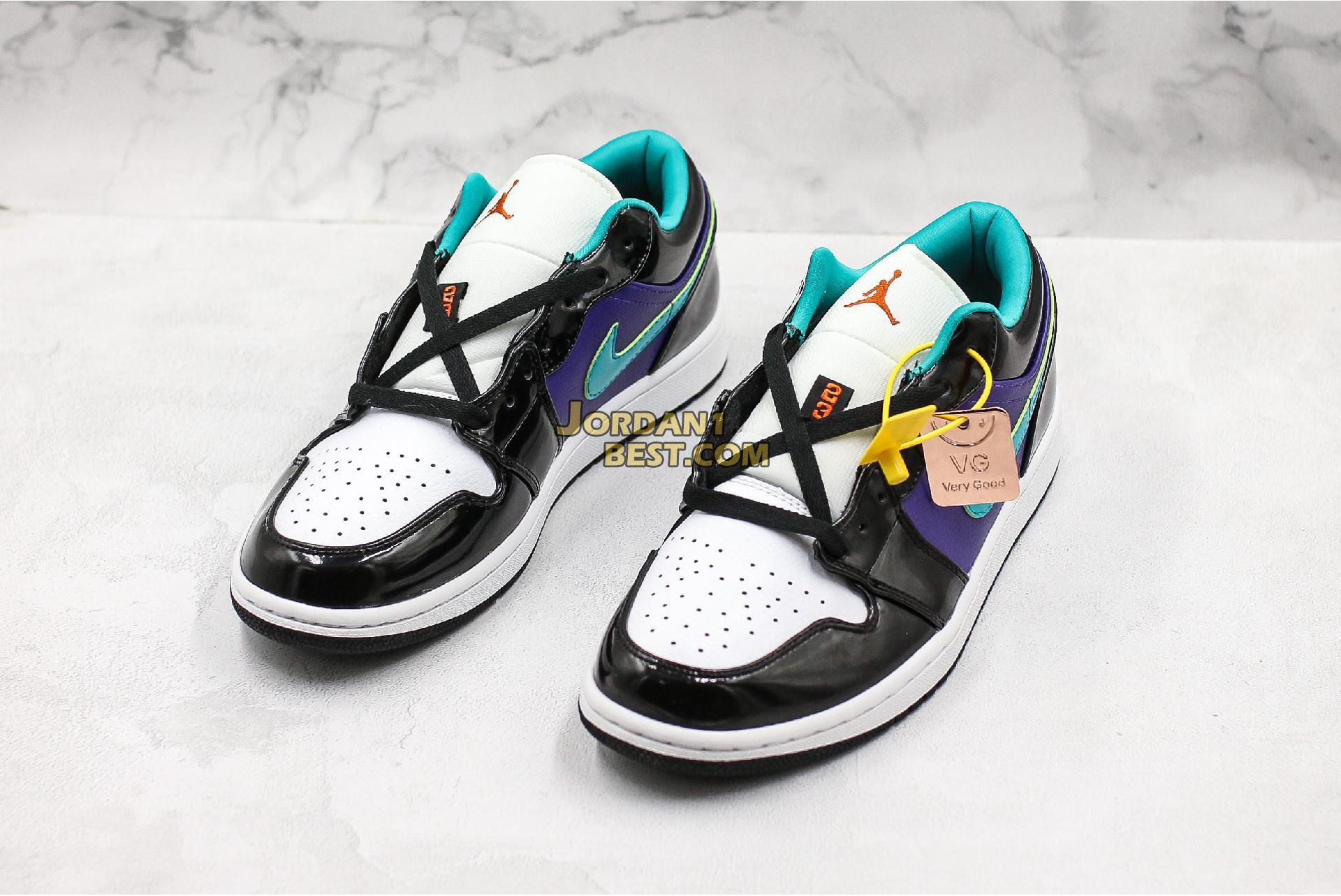 "2019 Air Jordan 1 Low GS ""Black Turbo Green"" 553560-035 Mens Womens"