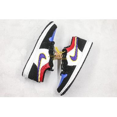 "AAA Quality 2019 Air Jordan 1 Low ""Rivals"" CJ9216-051 Mens Womens black/court purple-university gold-bright crimson-game royal-white Shoes replicas On Wholesale Sale Online"