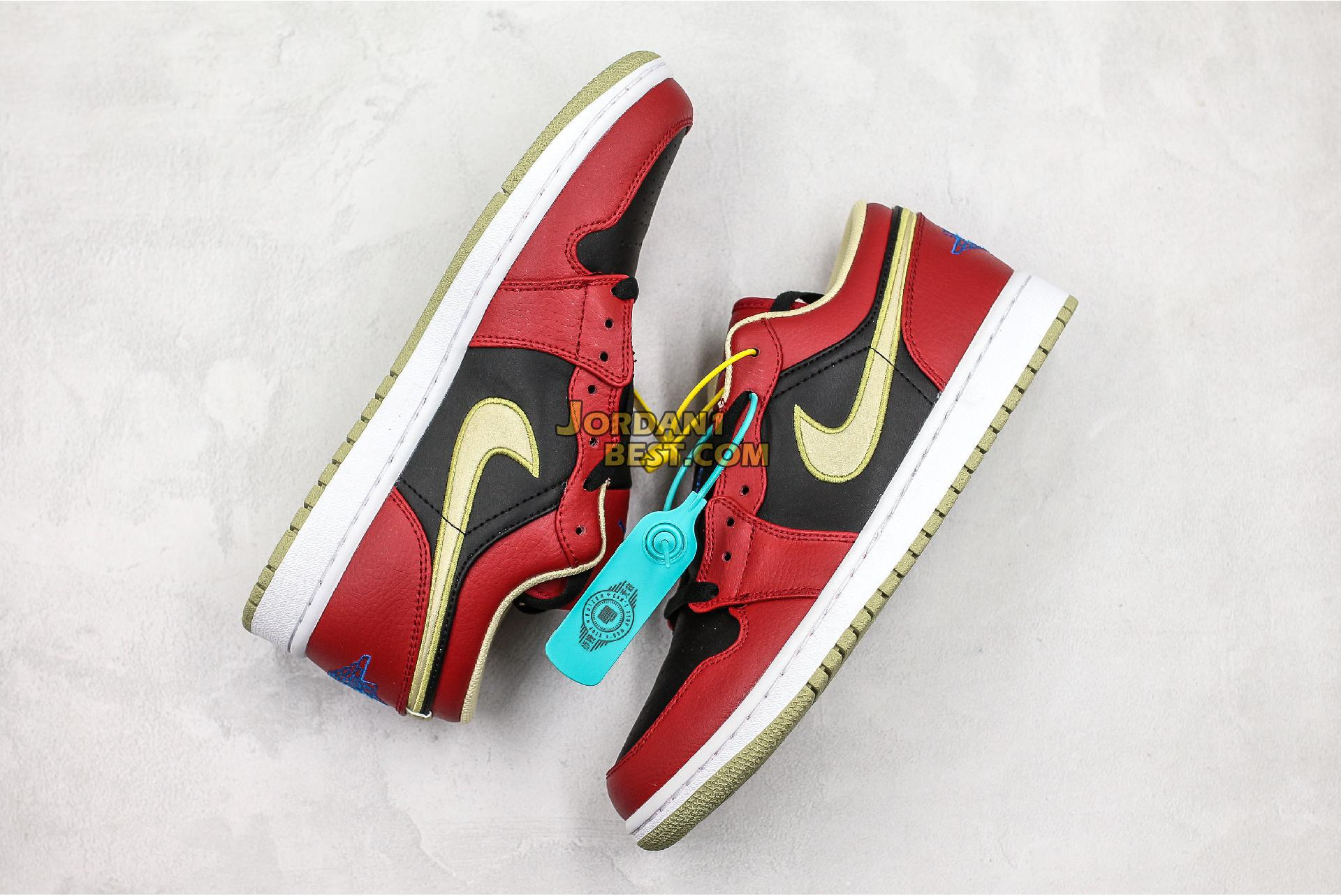 "Air Jordan 1 Retro Low ""Gym Red Gold"" 553558-613 Mens Womens"