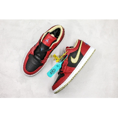 """top 3 fake Air Jordan 1 Retro Low """"Gym Red Gold"""" 553558-613 Mens Womens gym red/black-metallic gold Shoes replicas On Wholesale Sale Online"""