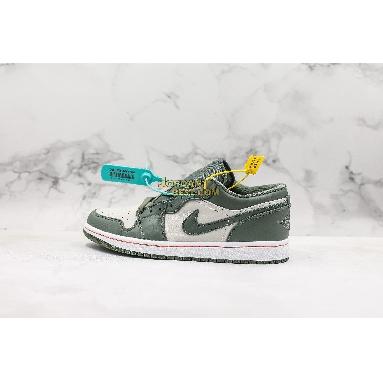 """best replicas Air Jordan 1 Low """"Military Green"""" 553558-121 Mens Womens white/hyper crimson-light bone-vintage lichen Shoes replicas On Wholesale Sale Online"""