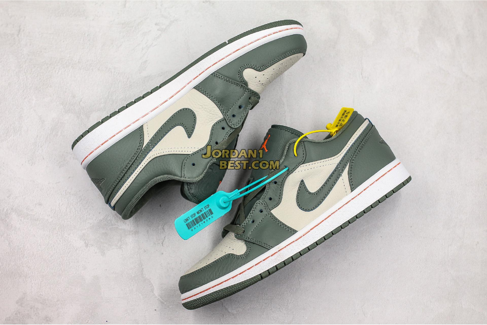 "Air Jordan 1 Low ""Military Green"" 553558-121 Mens Womens"