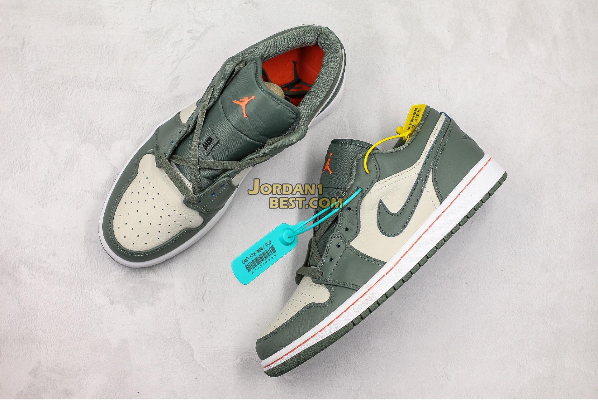 """Air Jordan 1 Low """"Military Green"""" 553558-121 Mens Womens"""