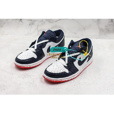 "fake Air Jordan 1 Low ""Obsidian Ember Glow"" 553558-481 Mens Womens obsidian/ember glow-white Shoes replicas On Wholesale Sale Online"