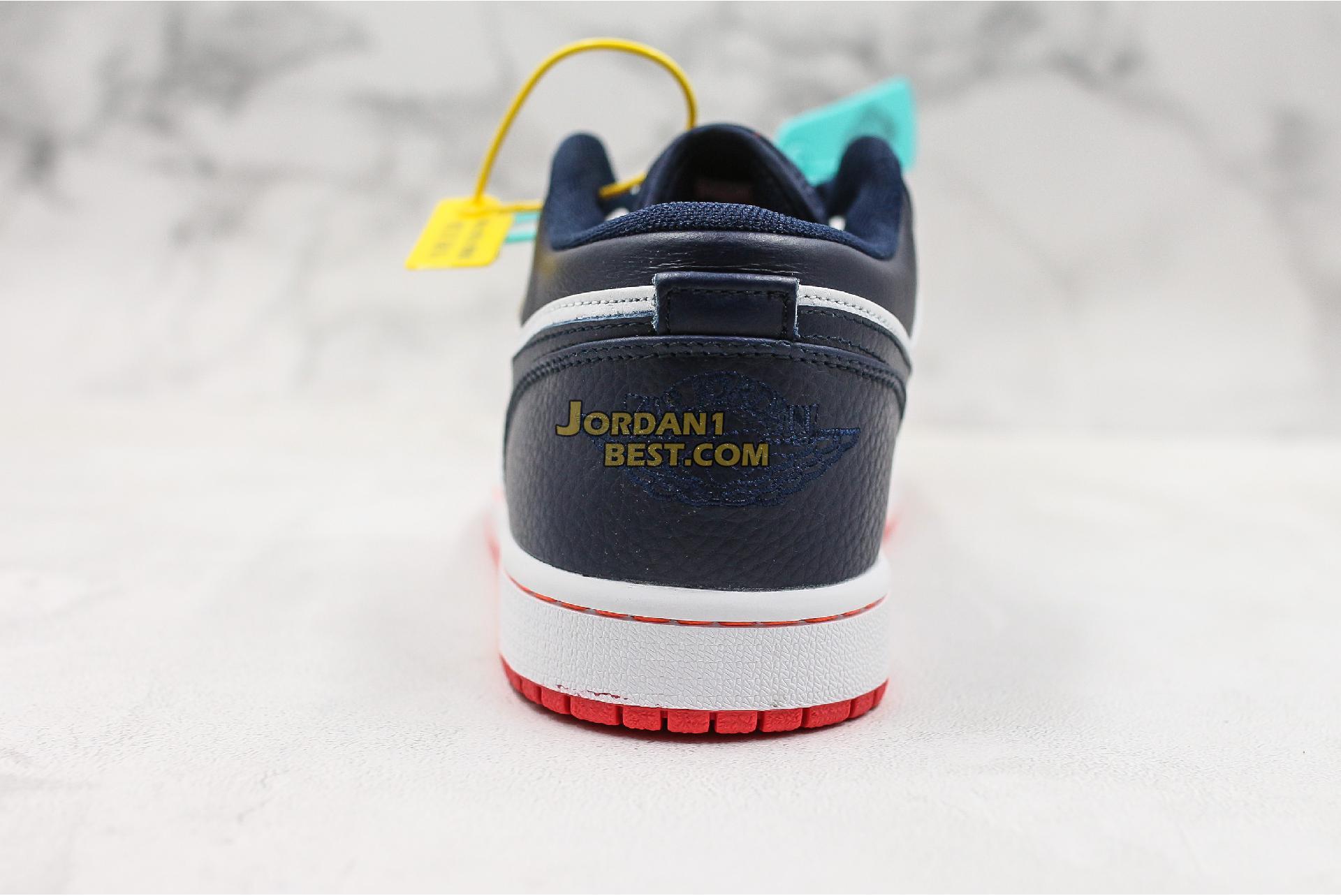 """Air Jordan 1 Low """"Obsidian Ember Glow"""" 553558-481 Mens Womens"""