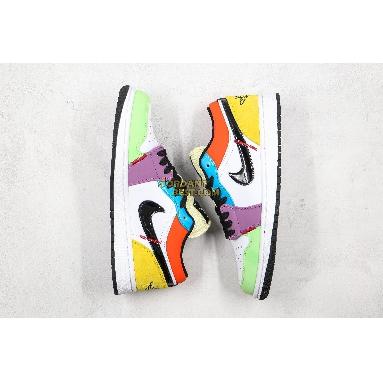 """new replicas Air Jordan 1 Low """"SE Multicolor"""" CZ3572-104 Mens Womens white/black-lightbulb-team orange Shoes replicas On Wholesale Sale Online"""