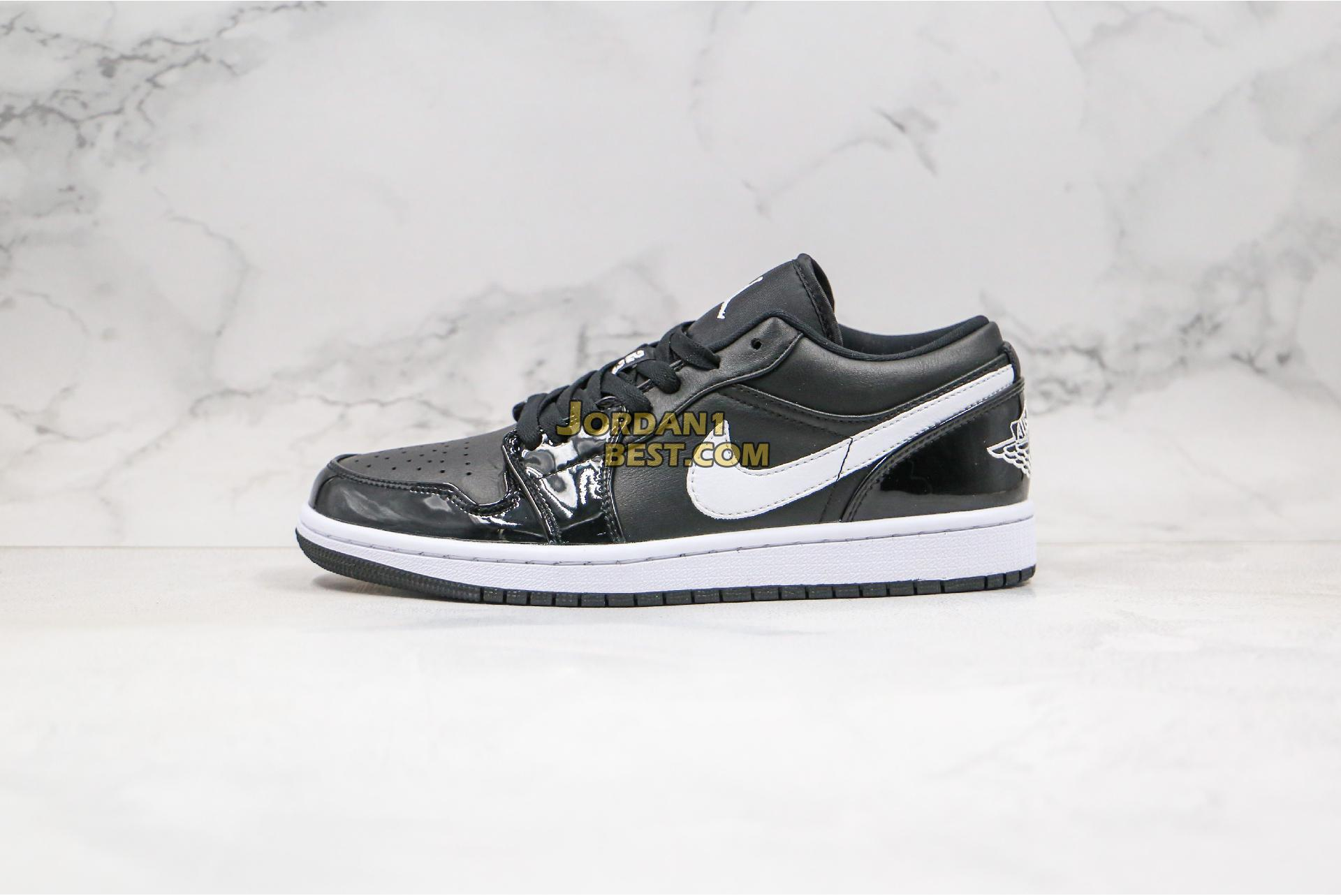 "Air Jordan 1 Low GS Retro ""Black Patent White"" 553560-002 Mens Womens"