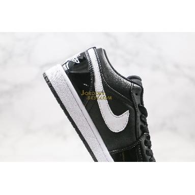 "top 3 fake Air Jordan 1 Low GS Retro ""Black Patent White"" 553560-002 Mens Womens black/white Shoes replicas On Wholesale Sale Online"