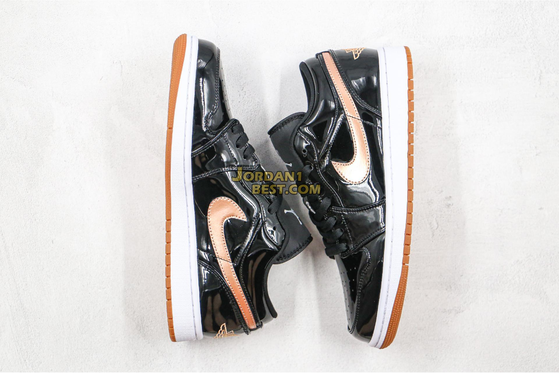"Air Jordan 1 Low GS ""Metallic Gold"" 554723-032 Mens Womens"