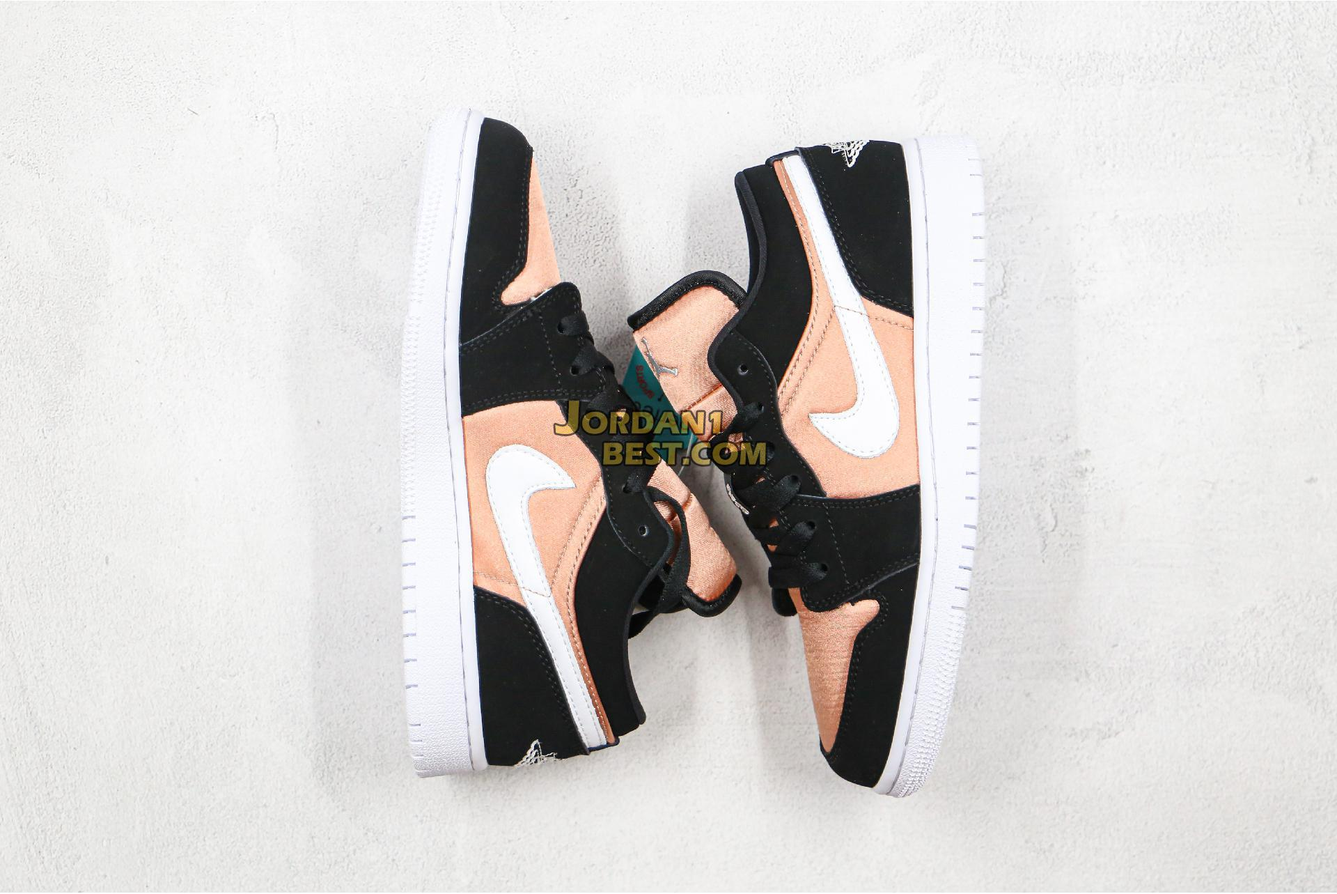 "Air Jordan 1 Low GS ""White Rose Gold"" 554723-090 Womens"