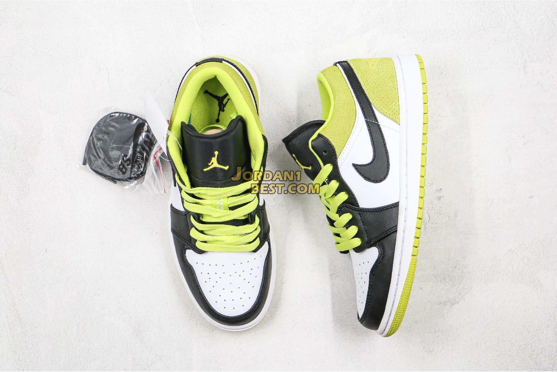 """Air Jordan 1 Low """"Black Cyber"""" CK3022-003 Mens Womens"""