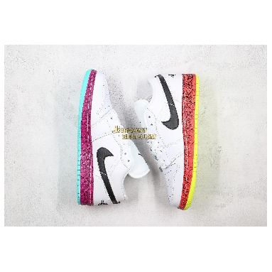 """fake Air Jordan 1 Low GS """"White Multi-Color"""" CV9548-100 Womens white/black-multi-color Shoes replicas On Wholesale Sale Online"""
