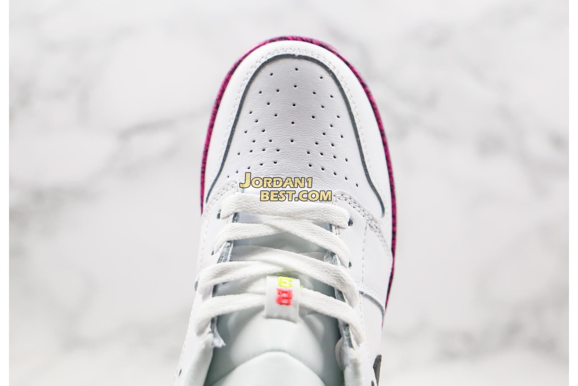 """Air Jordan 1 Low GS """"White Multi-Color"""" CV9548-100 Womens"""
