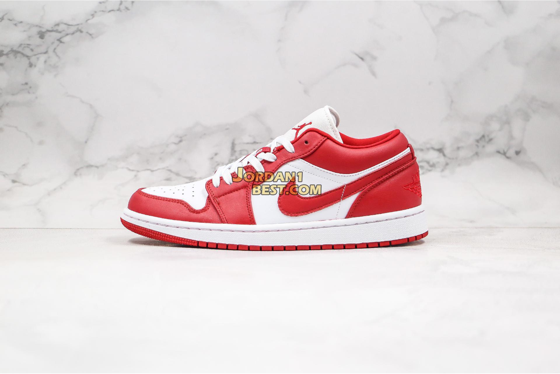"""Air Jordan 1 Low """"Gym Red"""" 553558-611 Mens Womens"""