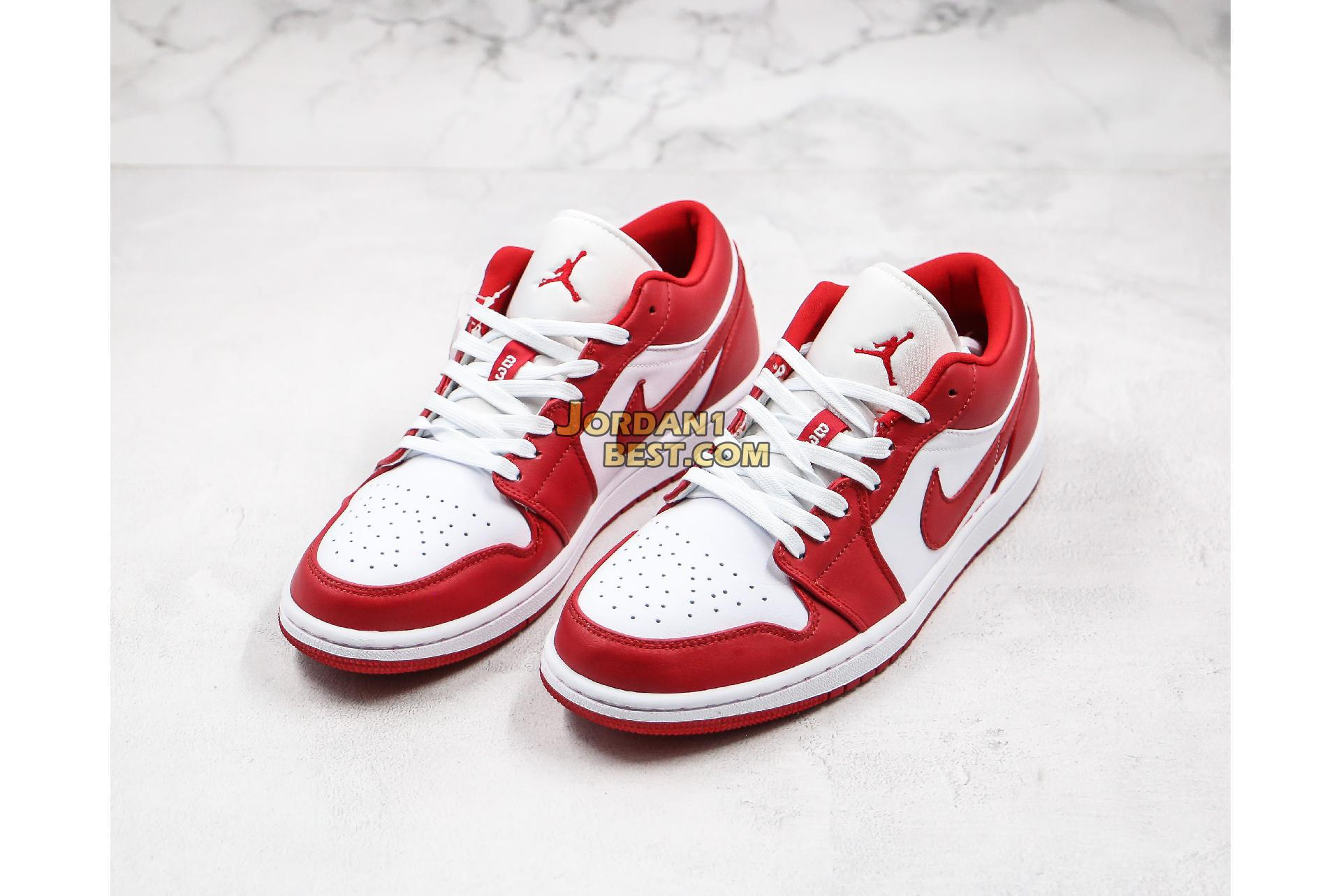 "Air Jordan 1 Low ""Gym Red"" 553558-611 Mens Womens"