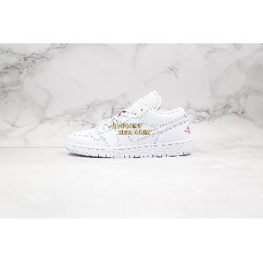 "top 3 fake Air Jordan 1 Low GS ""Aurora Green"" 554723-101 Womens white/white-aurora green-soar Shoes replicas On Wholesale Sale Online"