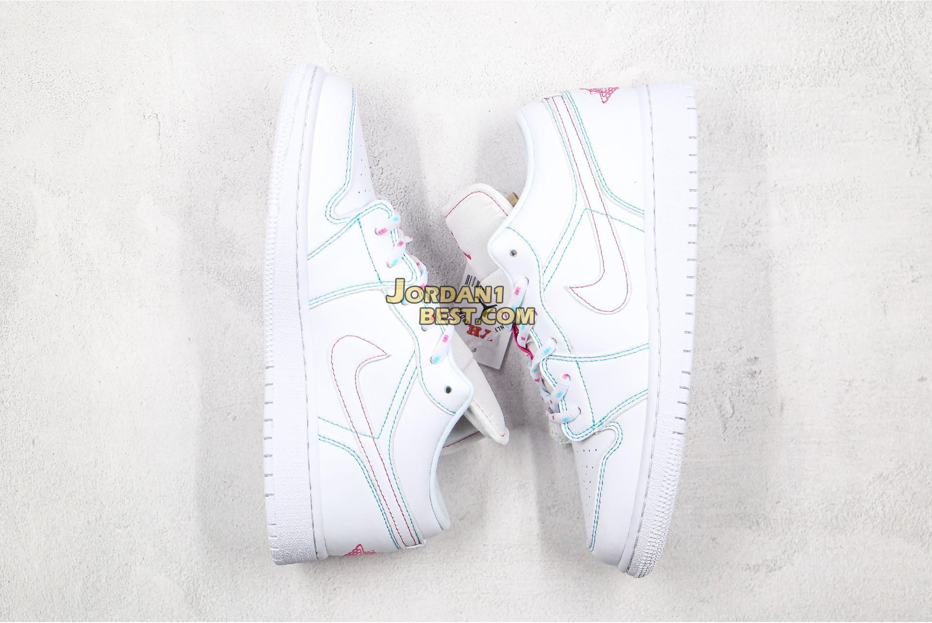 "Air Jordan 1 Low GS ""Aurora Green"" 554723-101 Womens"