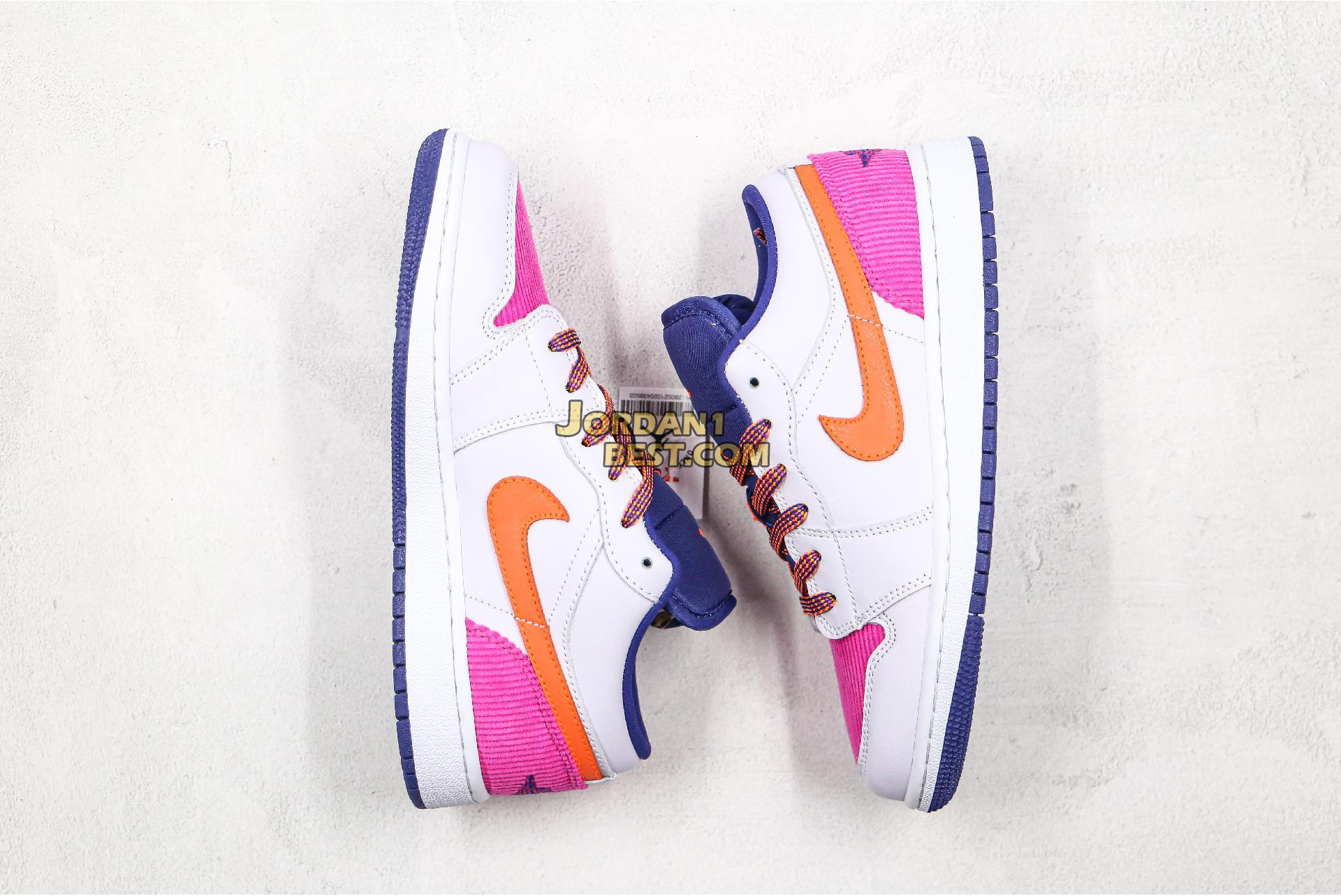 "Air Jordan 1 Low GS ""Fire Pink Hyper Crimson"" 554723-502 Womens"