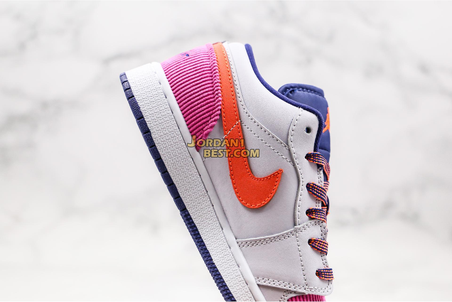 """Air Jordan 1 Low GS """"Fire Pink Hyper Crimson"""" 554723-502 Womens"""