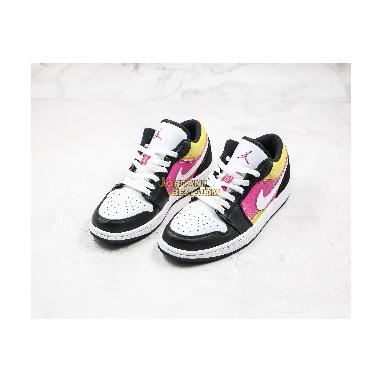 """new replicas Air Jordan 1 Low """"Black Active Fuchsia Cyber"""" CW5564-001 Mens Womens black/active fuchsia-cyber-white Shoes replicas On Wholesale Sale Online"""