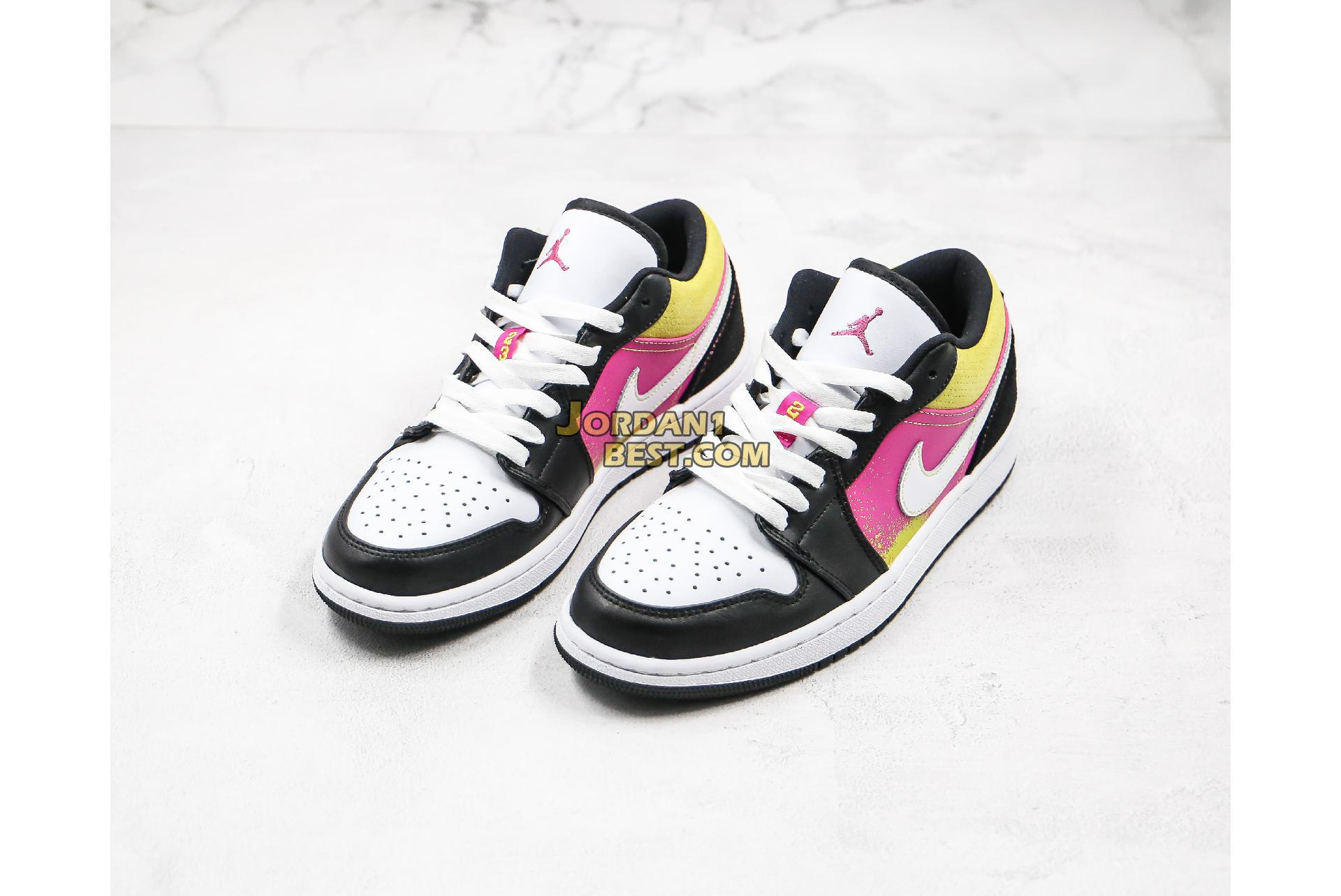 "Air Jordan 1 Low ""Black Active Fuchsia Cyber"" CW5564-001 Mens Womens"