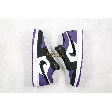 "AAA Quality 2019 Air Jordan 1 Low ""Court Purple"" 553558-125 Mens Womens white/black-court purple Shoes replicas On Wholesale Sale Online"