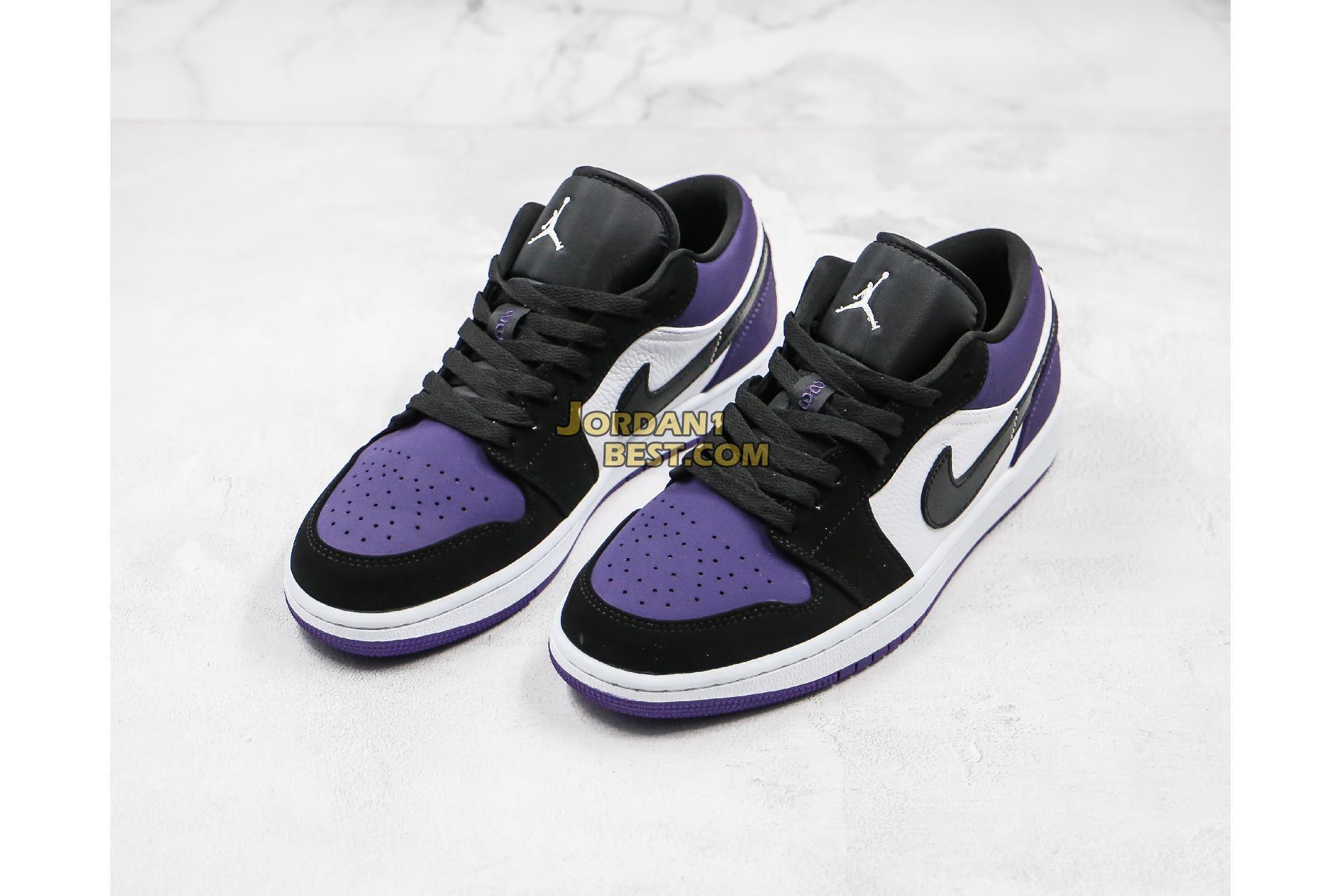 """2019 Air Jordan 1 Low """"Court Purple"""" 553558-125 Mens Womens"""
