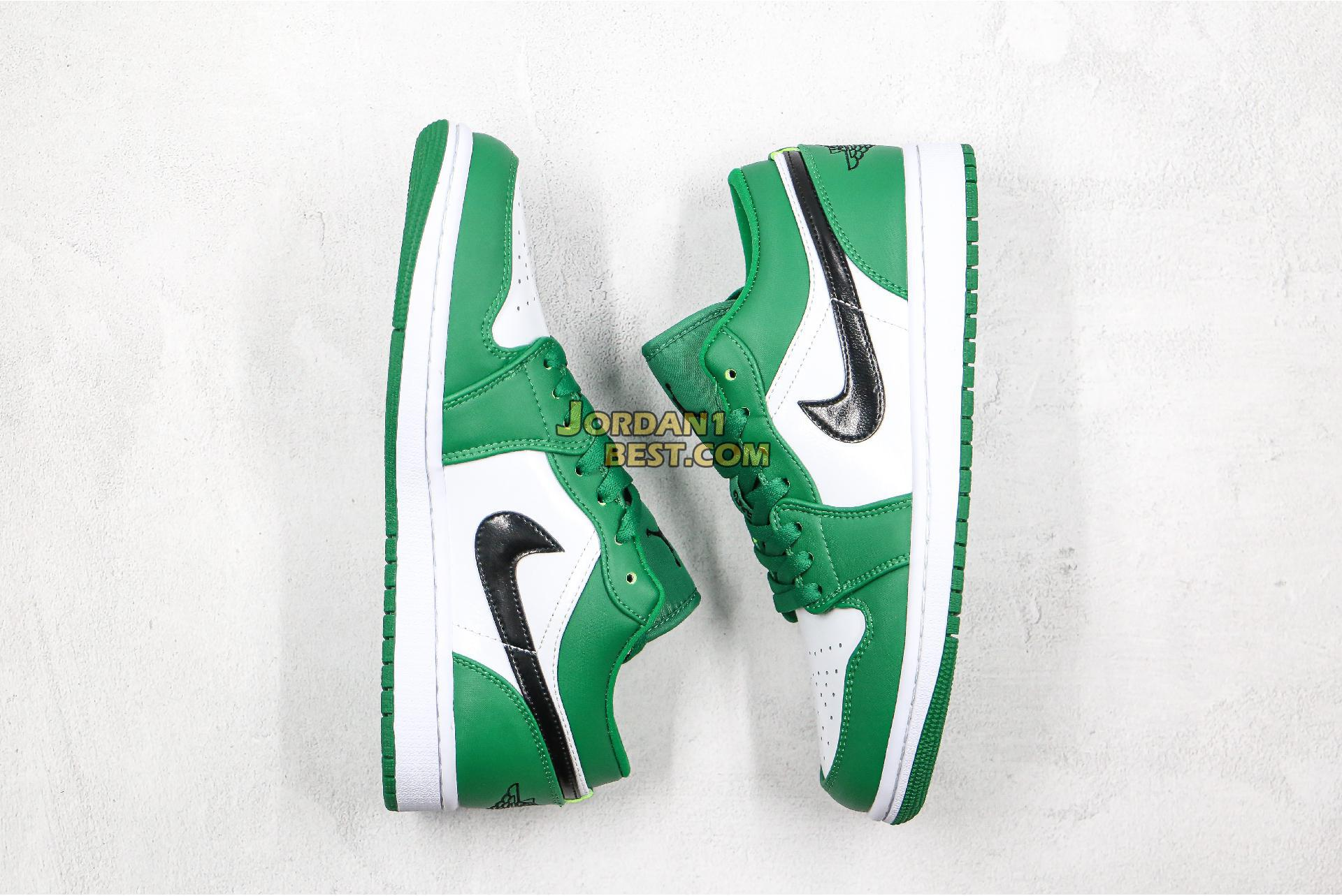 "2019 Air Jordan 1 Low ""Pine Green"" 553558-301 Mens"