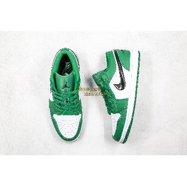 "fake 2019 Air Jordan 1 Low ""Pine Green"" 553558-301 Mens pine green/black-white Shoes replicas On Wholesale Sale Online"
