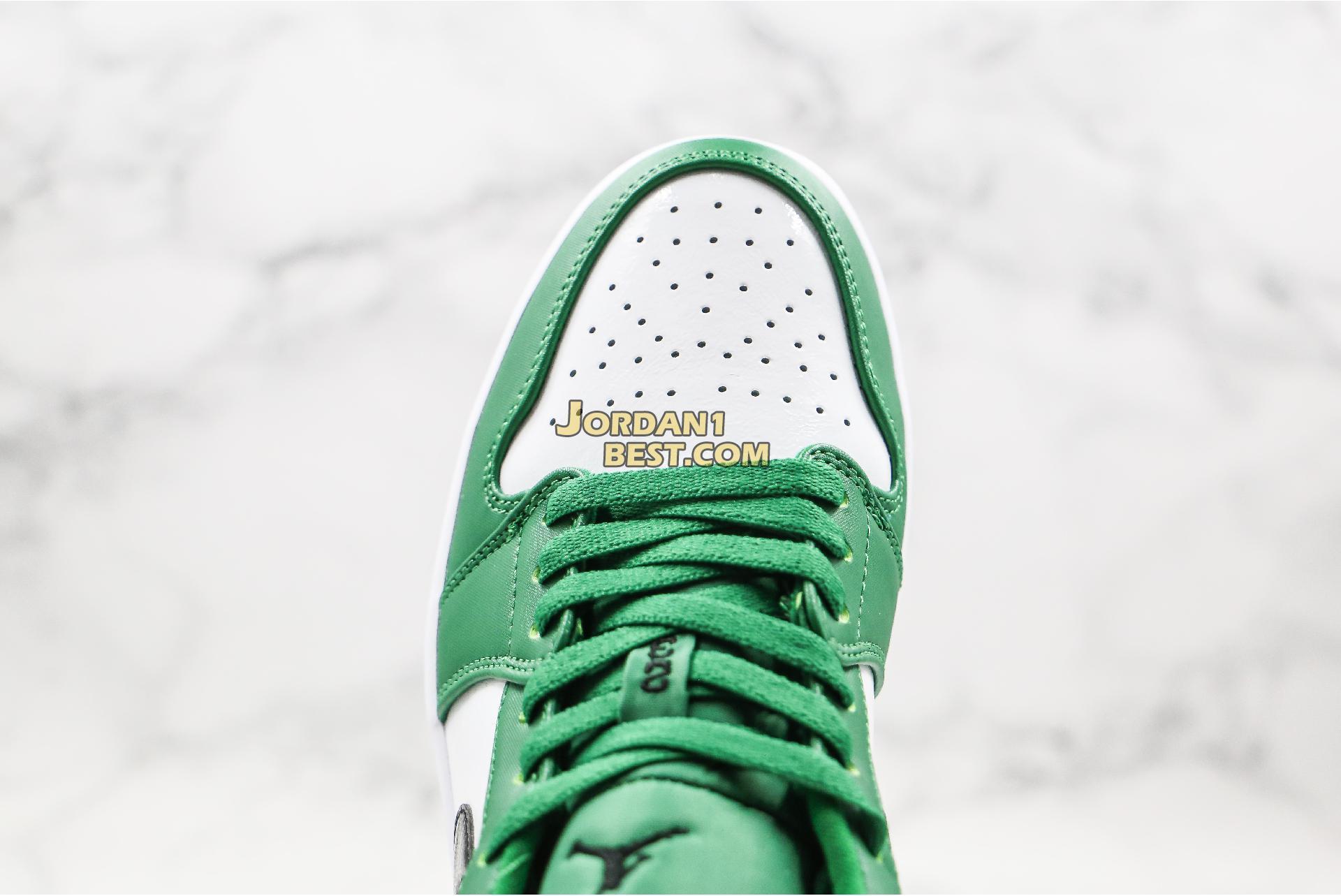 """2019 Air Jordan 1 Low """"Pine Green"""" 553558-301 Mens"""