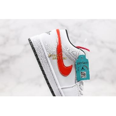 """new replicas 2020 Air Jordan 1 Low """"Multi-Color Swoosh"""" CW7009-100 Mens Womens white/multi Shoes replicas On Wholesale Sale Online"""