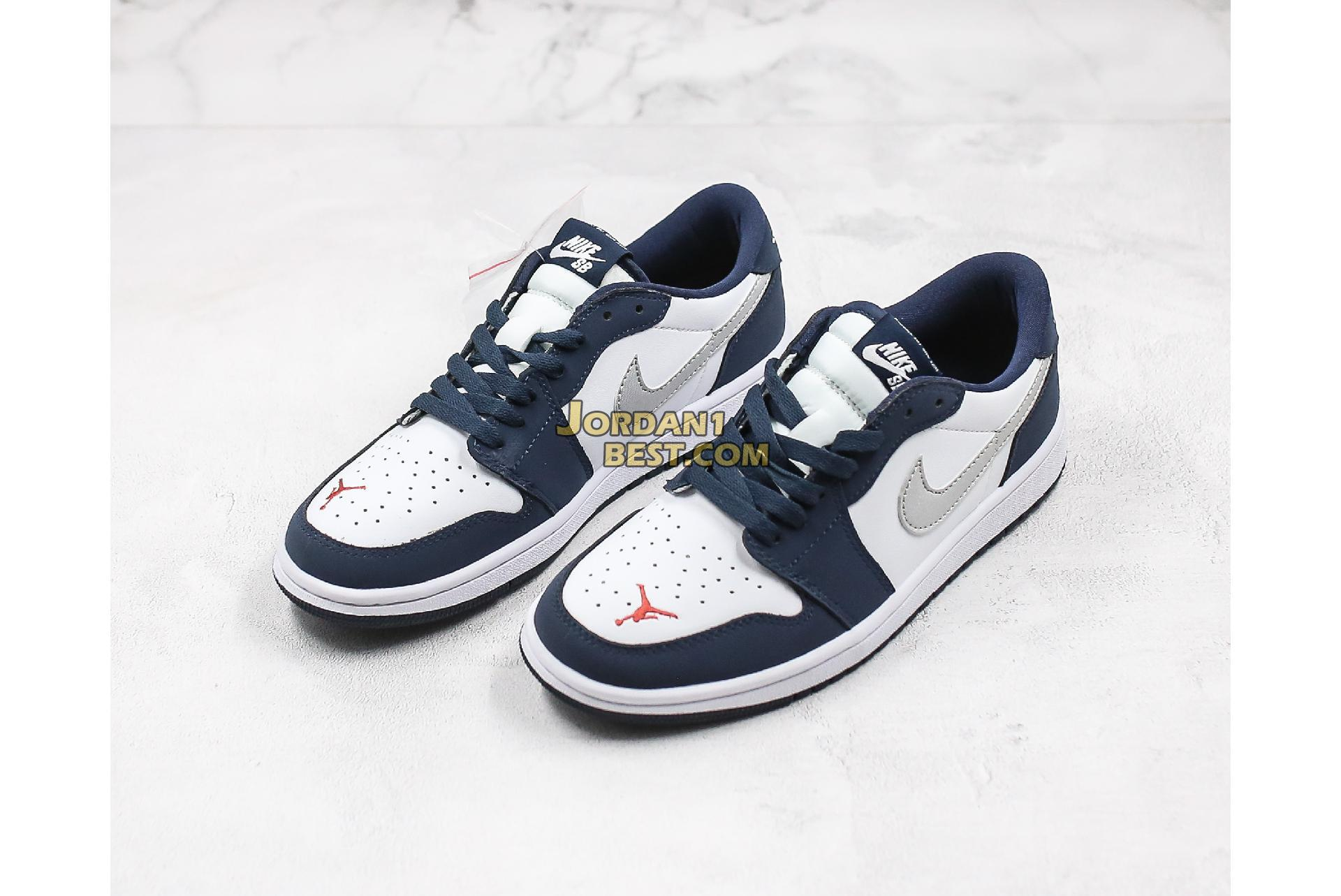 "2019 Eric Koston x Air Jordan 1 Low SB ""Midnight Navy"" CJ7891-400 Mens Womens"