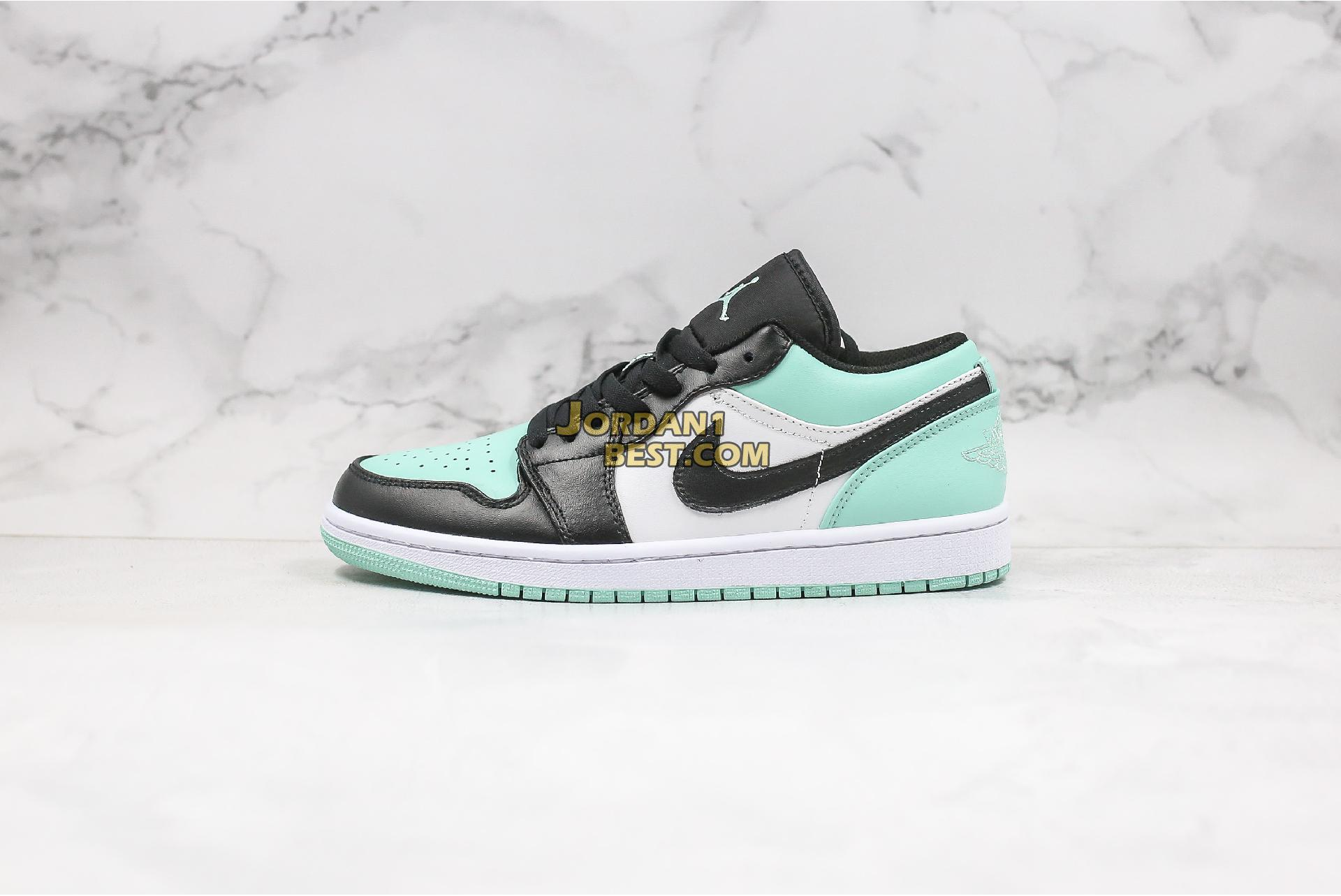 "Air Jordan 1 Retro Low ""Emerald"" 553558-117 Mens"