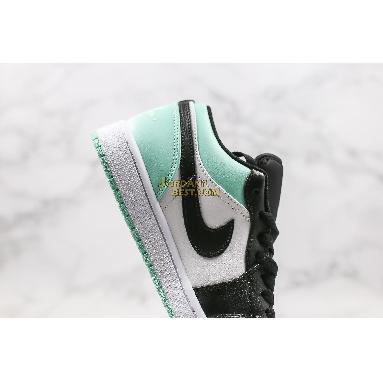 "new replicas Air Jordan 1 Retro Low ""Emerald"" 553558-117 Mens white/emerald rise-black Shoes replicas On Wholesale Sale Online"