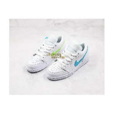 """top 3 fake Air Jordan 1 Low """"White Multi-Color"""" CW7033-100 Womens white/multi-color-light aqua Shoes replicas On Wholesale Sale Online"""
