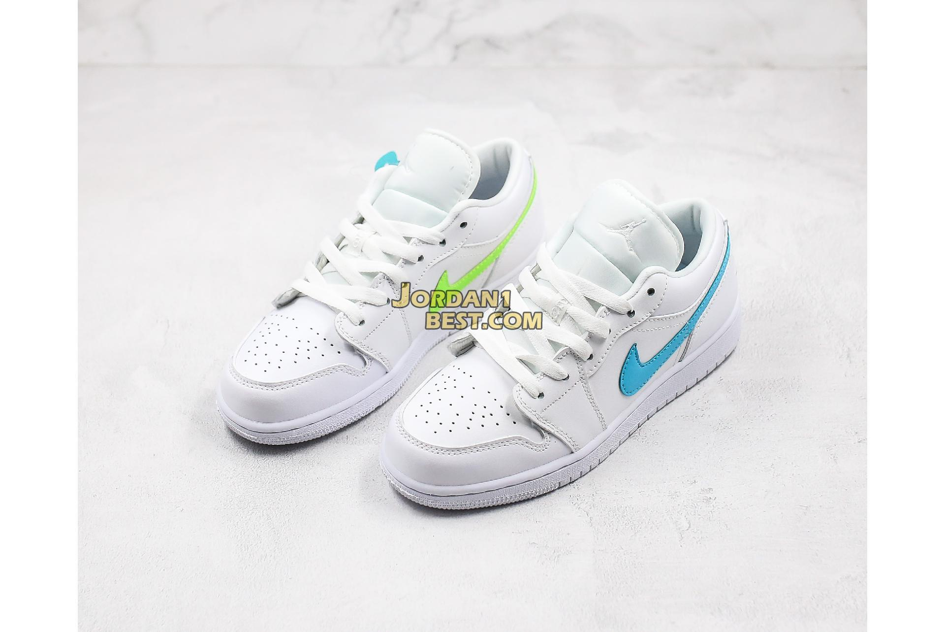 "Air Jordan 1 Low ""White Multi-Color"" CW7033-100 Womens"