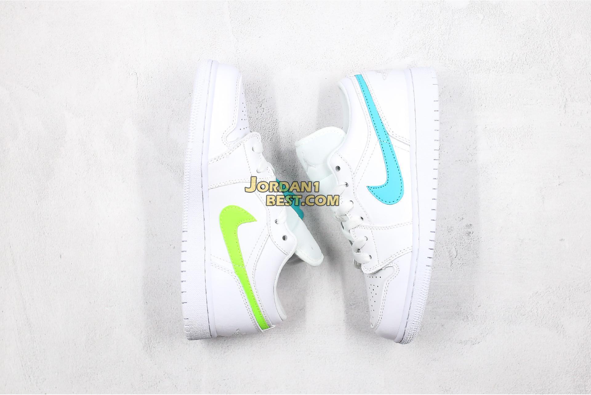 """Air Jordan 1 Low """"White Multi-Color"""" CW7033-100 Womens"""
