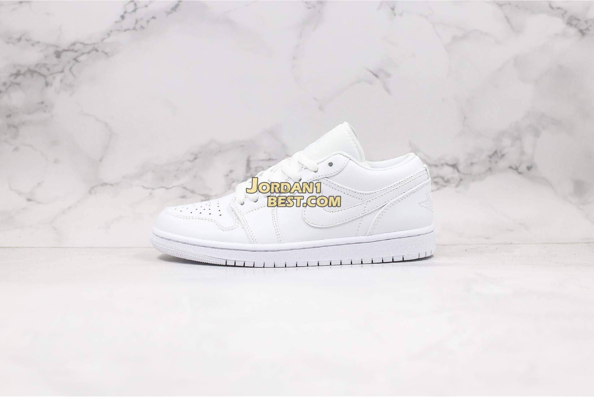 "Air Jordan 1 Low ""Triple White"" 553558-112 Mens"