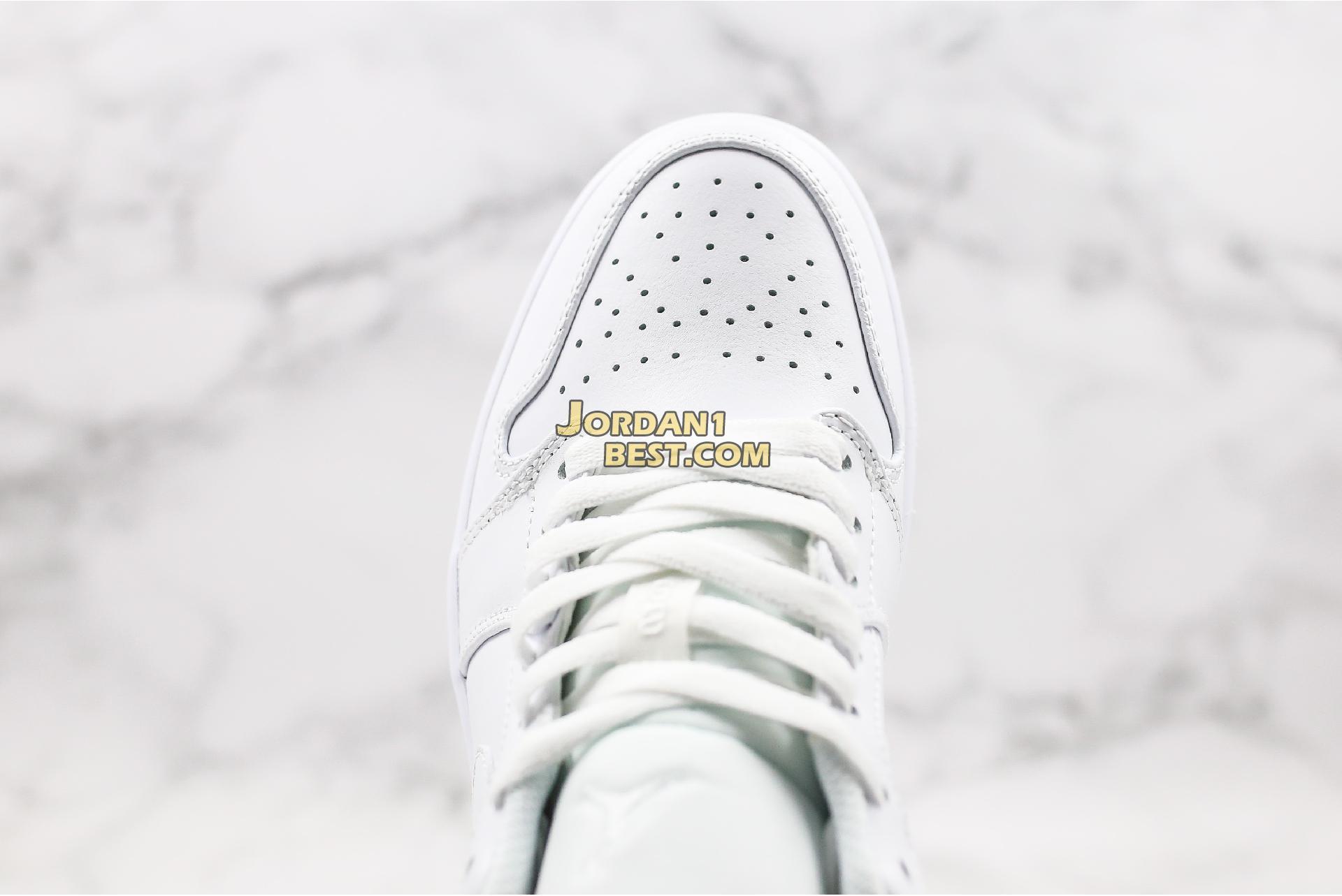 """Air Jordan 1 Low """"Triple White"""" 553558-112 Mens"""
