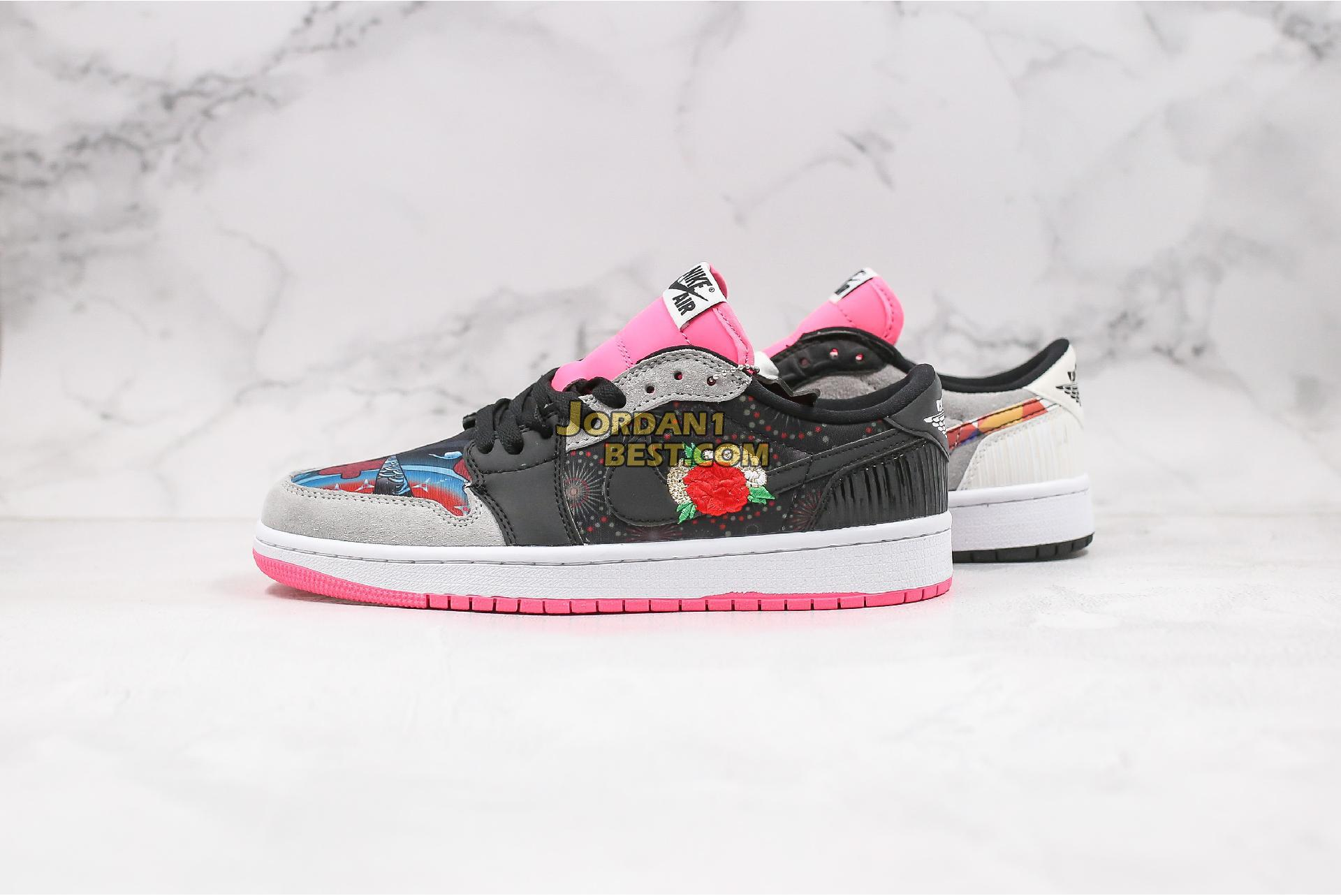 "AAA Quality 2020 Air Jordan 1 Low OG ""Chinese New Year"" CW0418-006 Mens Womens multi-color/black-white Shoes replicas On Wholesale Sale Online"
