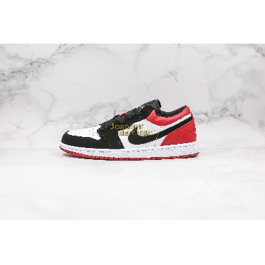 "AAA Quality 2019 Air Jordan 1 Low ""Black Toe"" 553558-116 Mens Womens white/black-gym red Shoes replicas On Wholesale Sale Online"
