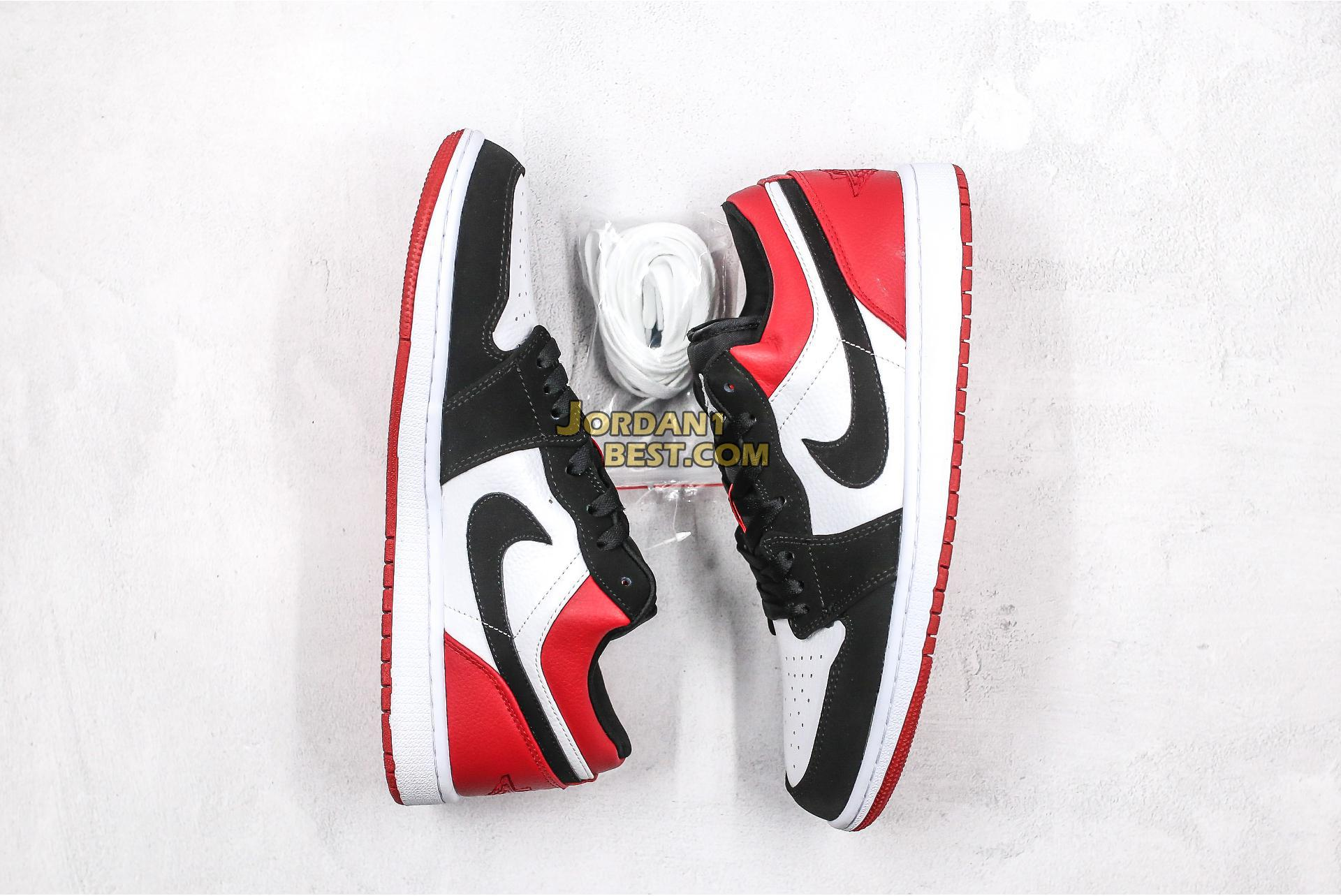 "2019 Air Jordan 1 Low ""Black Toe"" 553558-116 Mens Womens"