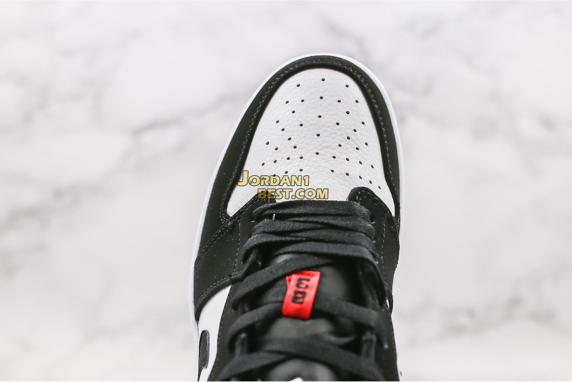"2019 Air Jordan 1 Low ""Black Toe"" 553558-116 Mens Womens"