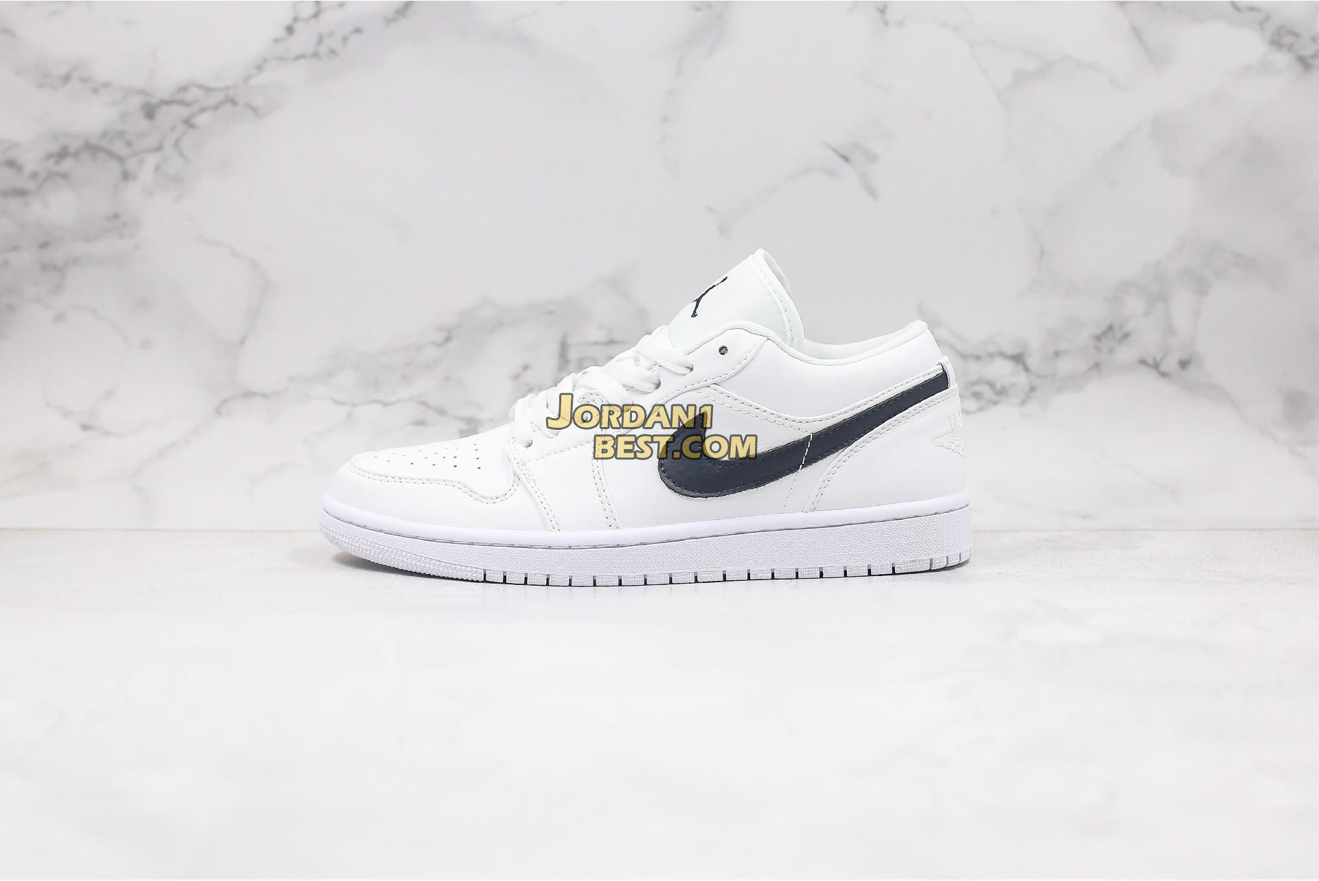 "2019 Air Jordan 1 Low ""White Obsidian"" 553558-114 Mens Womens"