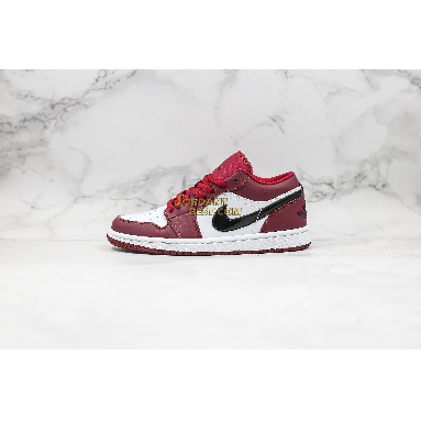 """top 3 fake 2019 Air Jordan 1 Low """"Noble Red"""" 553558-604 Mens Womens noble red/white/black Shoes replicas On Wholesale Sale Online"""